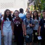 Тim škole na matematičkom turniru koji je osvojio treće mesto u Srbiji i zaslužan je za mozaik 1