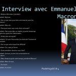 Interview avec Emmanuel Macron